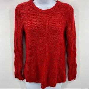 Madewell Red Firelight Pullover Wool Sweater Sz S